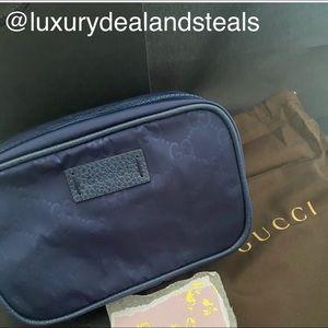 Gucci Cosmetics/ toiletry bag case nylon